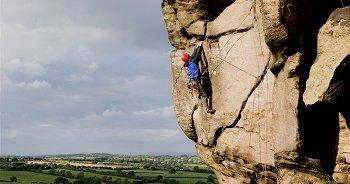 Gritstone ground shot climbing photograph