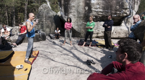 Fontainebleau bouldering clinic