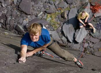 Slate climbing at Vivian Quarry