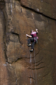 Rock climbing at Millstone Edge