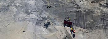 Steve Wampler climbs El Capitan