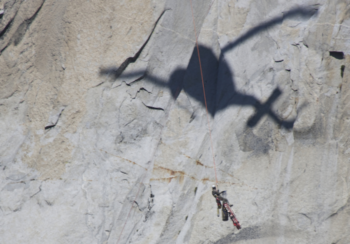 Yosemite search and rescue attend injured climber on El Cap